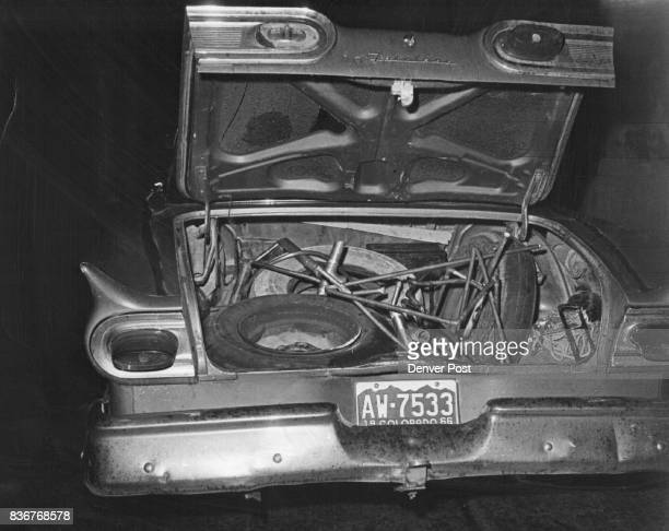 Car Was Found With Trunk Lid Open Parked Next To Radiator Company Items in the trunk include copper tubing center car battery in rear and hacksaw...