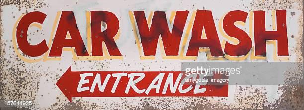 car wash entrance sign
