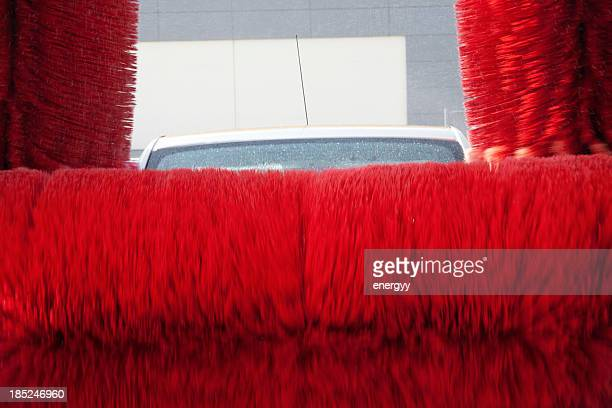 car wash - car wash brush stock pictures, royalty-free photos & images