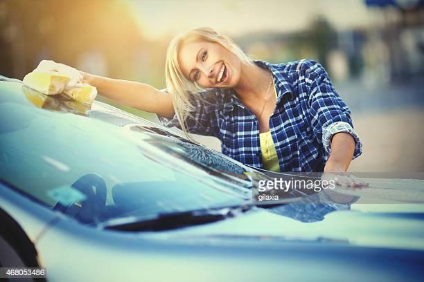Lavage de voiture.