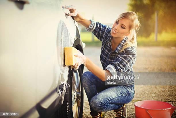Lavagem automática.