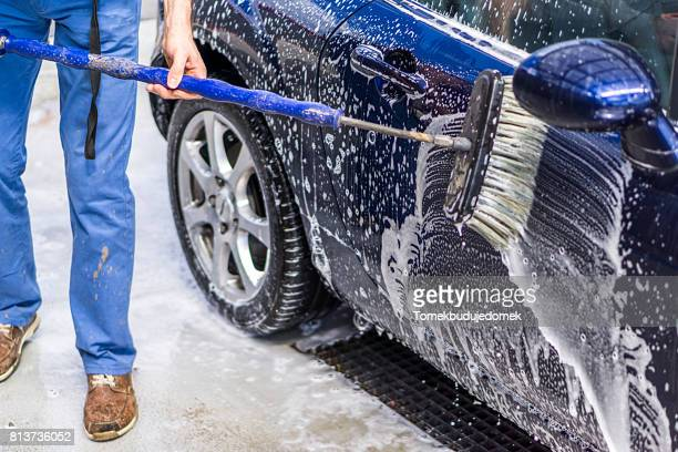 car wash - car wash brush stock photos and pictures