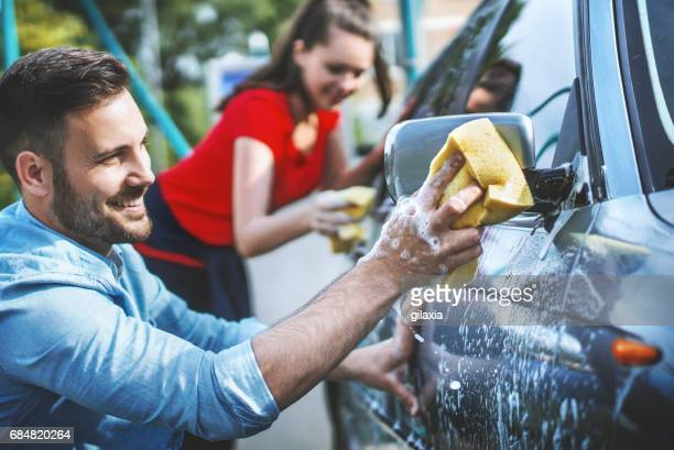 Car-wash auto service.
