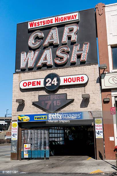 Car Wash station with neon sign