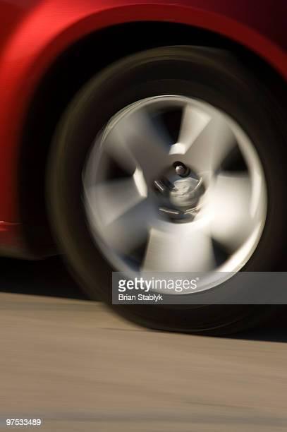 Car Wheel, Blurred Motion