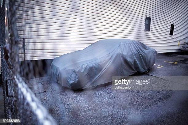 Car with protective cover