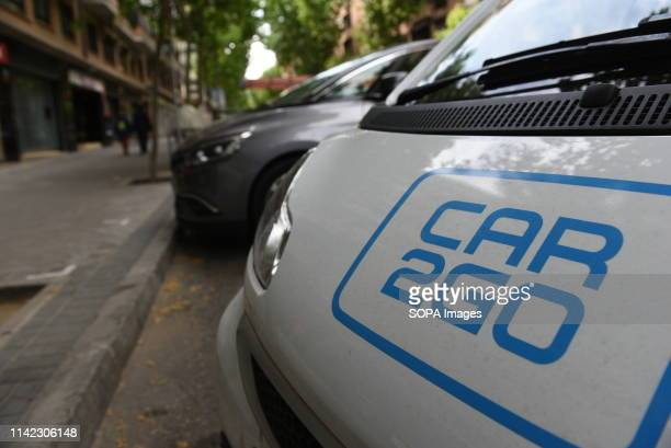 Car2Go car is seen in central Madrid