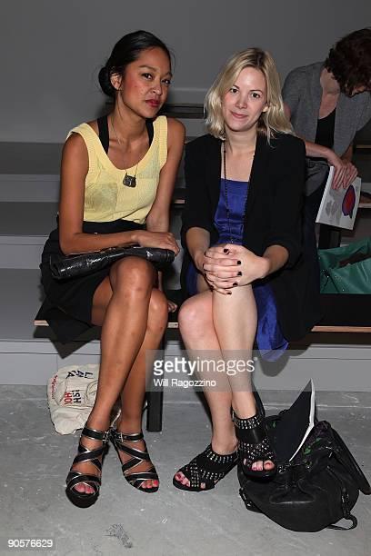 Cara Araneta and Lauren Grant during Vena Cava presentation of spring 2010 fashions at the Milk Studios during MercedesBenz Fashion Week at Bryant...