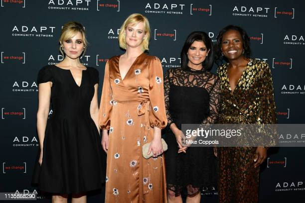 Cara Buono Abigail Hawk Tamsen Fadal and Deborah Roberts attend the 2019 2nd Annual ADAPT Leadership Awards at Cipriani 42nd Street on March 14 2019...