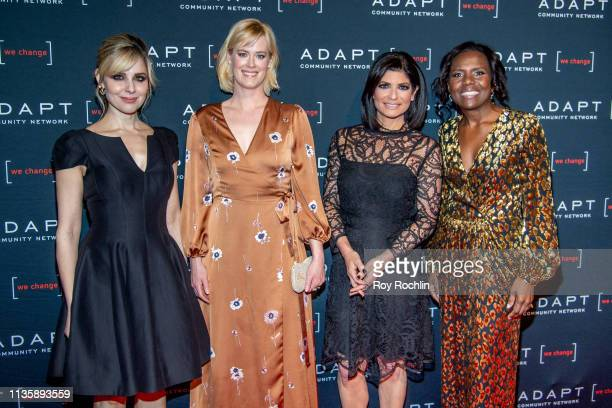 Cara Buono Abigail Hawk Tamsen Fadal and Deborah Roberts attends the 2019 Adapt Leadership Awards at Cipriani 42nd Street on March 14 2019 in New...