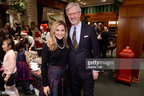 Cara Buono and Claudio Del Vecchio attend as Brooks Brothers celebrates the holidays with St Jude Children's Research Hospital on December 12 2017 in...
