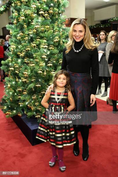 Cara Buono and her daughter Esme attend as Brooks Brothers celebrates the holidays with St Jude Children's Research Hospital on December 12 2017 in...