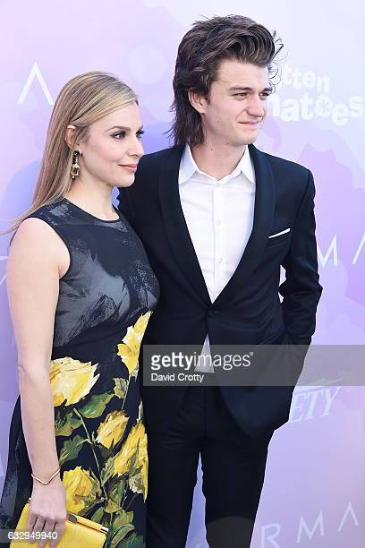 Cara Buono and Joe Keery arrive at Variety's Celebratory Brunch Event For Awards Nominees Benefiting Motion Picture Television Fund at Cecconi's on...