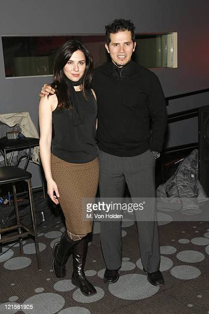 Cara Buono and John Leguizamo during Final Round of the Casting Call for Live Mansion The Movie Inside at Pressure in Manhattan New York United States