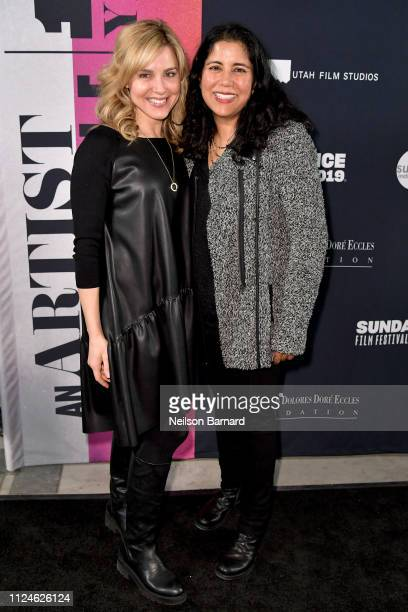 Cara Buono and Nisha Ganatra attend An Artist at the Table Dinner and Program during the 2019 Sundance Film Festival at Utah Film Studios on January...