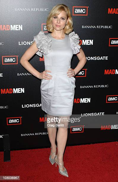 Cara Buono arrives at AMC's Mad Men Season 4 Premiere on July 20 2010 in Los Angeles California