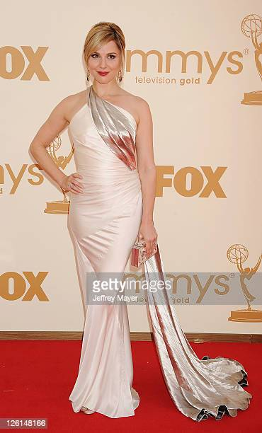 Cara Buono arrives at the 63rd Primetime Emmy Awards at the Nokia Theatre LA Live on September 18 2011 in Los Angeles California