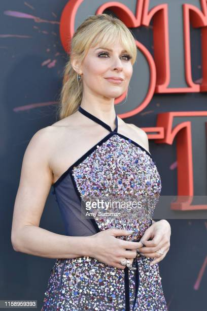 Cara Buono attends the premiere of Netflix's Stranger Things Season 3 on June 28 2019 in Santa Monica California