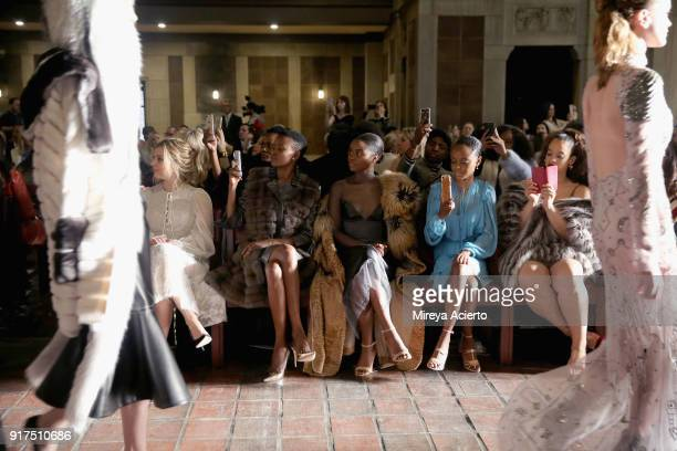 Cara Buono Flaviana Matata Denee Benton Ashleigh Murray and Dascha Polanco attend the Dennis Basso fashion show at St Bartholomew's Church on...