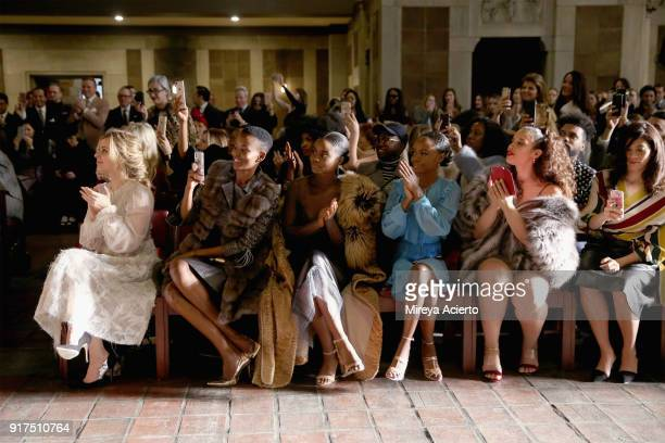 Cara Buono Flaviana Matata Denee Benton Ashleigh Murray Dascha Polanco and Laura Gomez attend the Dennis Basso fashion show at St Bartholomew's...