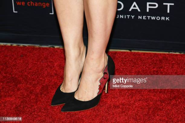 Cara Buono shoe detail attends the The 2019 2nd Annual ADAPT Leadership Awards at Cipriani 42nd Street on March 14 2019 in New York City