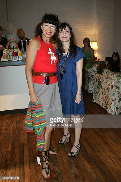 Cara Ciniglio and Karen Erickson attend Orla Kiely Sample Sale at 446 Broadway on July 30 2007 in New York City