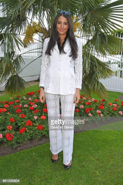 Cara Corre attends Ladies Day of the 2017 Investec Derby Festival at The Jockey Club's Epsom Downs Racecourse at Epsom Racecourse on June 2, 2017 in...