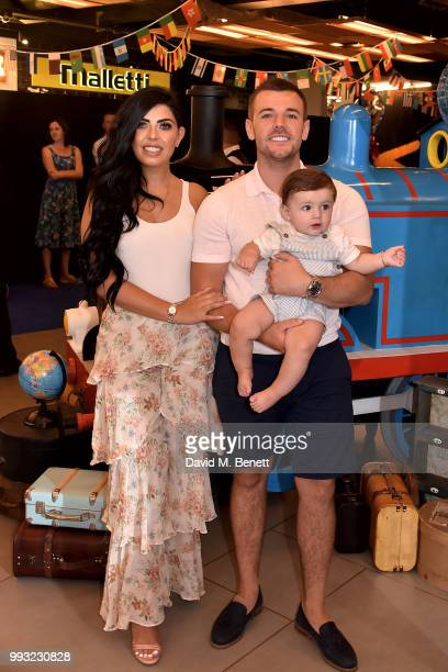 Cara De La Hoyde and Nathan Massey attend the premiere of Thomas and Friends Big World Big Adventures at Vue West End on July 7 2018 in London England