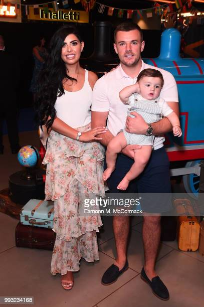 Cara De La Hoyde and Nathan Massey attend the 'Thomas The Tank Engine' Premiere at Vue West End on July 7 2018 in London England