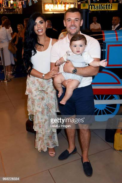 Cara De La Hoyde and Nathan Massey attend the UK premiere of 'Thomas The Tank Engine Big World Big Adventures The Movie' at Vue West End on July 7...
