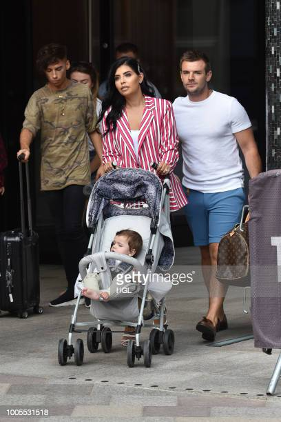 Cara de la Hoyde and Nathan Massey seen at the ITV Studios on July 26 2018 in London England