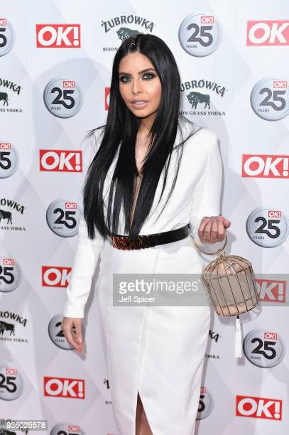 Cara de la Hoyde attends OK Magazine's 25th Anniversary Party at The View from The Shard on March 21 2018 in London England