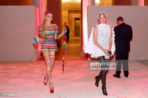 Cara Delevigne and Gal Gadot attend The 2019 Met Gala Celebrating Camp Notes on Fashion at Metropolitan Museum of Art on May 06 2019 in New York City