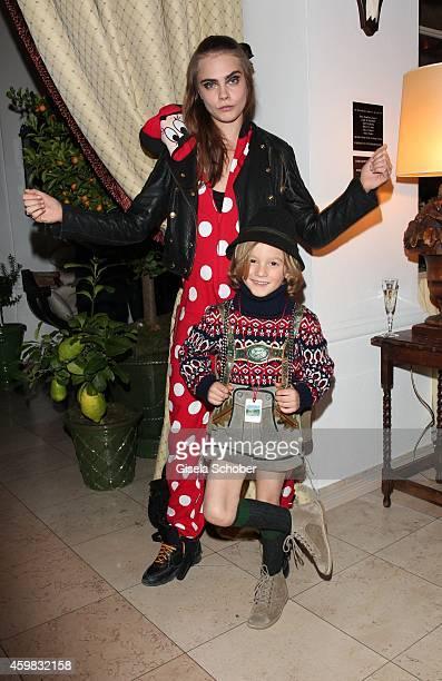 Cara Delevigne and Hudson Kroenig during the Chanel Metiers d'Art Collection 2014/15 ParisSalzburg on December 2 2014 in Salzburg Austria