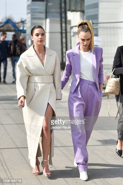 Cara Delevigne Ashley Benson attends the Boss fashion show on February 23 2020 in Milan Italy