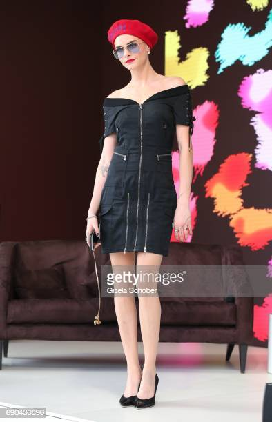 Cara Delevigne attends Magnum photocall during the 70th annual Cannes Film Festival at Magnum Beach on May 18 2017 in Cannes France