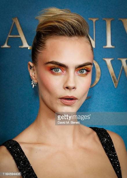 Cara Delevigne attends the London Premiere of Carnival Row at The Ham Yard Hotel on August 28 2019 in London England
