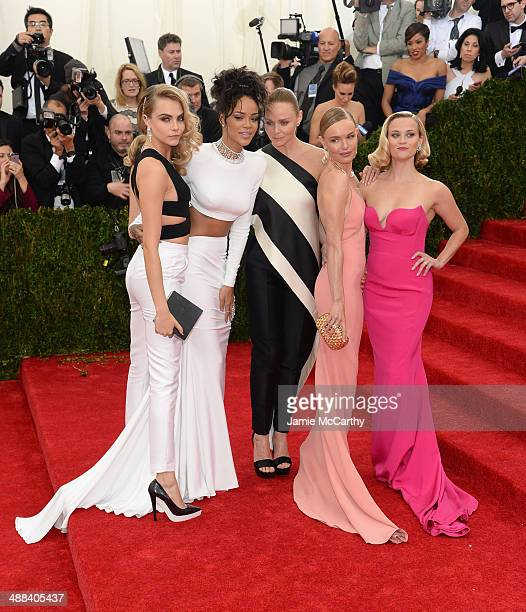 Cara Delevigne Rihanna Stella McCartney Kate Bosworth and Reese Witherspoon attend the 'Charles James Beyond Fashion' Costume Institute Gala at the...