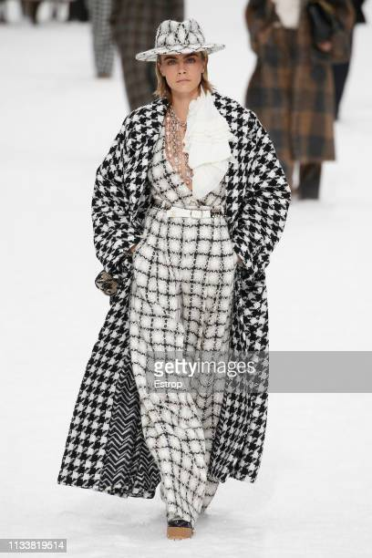 Cara Delevigne walks the runway at the Chanel show at Paris Fashion Week Autumn/Winter 2019/20 on March 5 2019 in Grand Palais Paris France