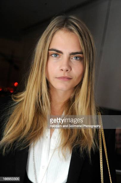 Cara Delevinge attends the Stefano Tonchi Celebrates W Magazine's Modern Beauty Issue Honoring Tilda Swinton at the Perry Street Restaurant on April...