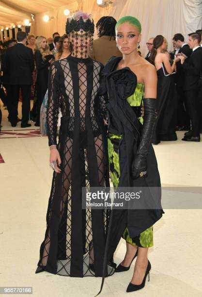 Cara Delevingne and Adwoa Aboah attend the Heavenly Bodies Fashion The Catholic Imagination Costume Institute Gala at The Metropolitan Museum of Art...