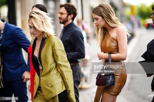 Cara Delevingne and Ashley Benson arrive at Laperouse restaurant where a prewedding dinner for Zoe Kravitz and Karl Glusma is to be held on June 28...