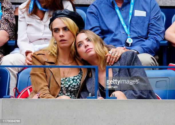 Cara Delevingne and Ashley Benson attend the 2019 US Open Women's final on September 07, 2019 in New York City.