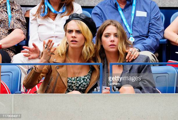 Cara Delevingne and Ashley Benson attend the 2019 US Open Women's final on September 07 2019 in New York City