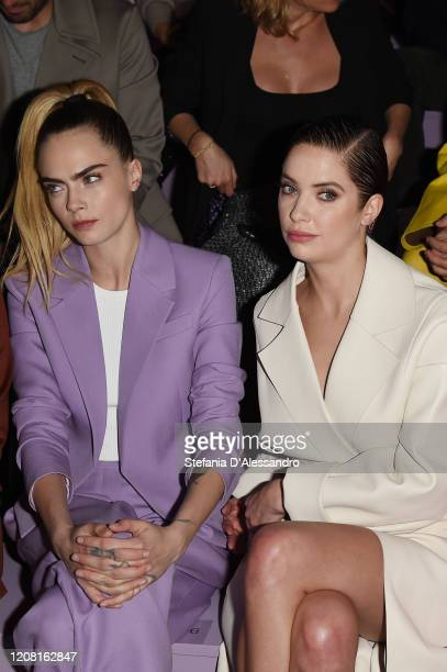 Cara Delevingne and Ashley Benson attend the Boss fashion show on February 23 2020 in Milan Italy