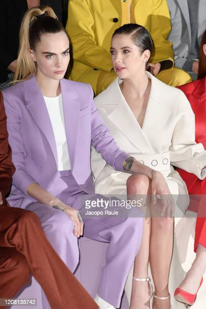 Cara Delevingne and Ashley Benson attends the Boss fashion show on February 23 2020 in Milan Italy