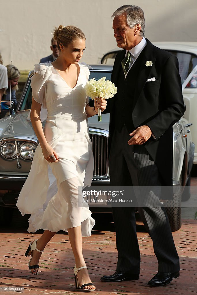 Celebrity Sightings At The Wedding Of Poppy Delevingne And James Cook In London - May 16, 2014 : News Photo