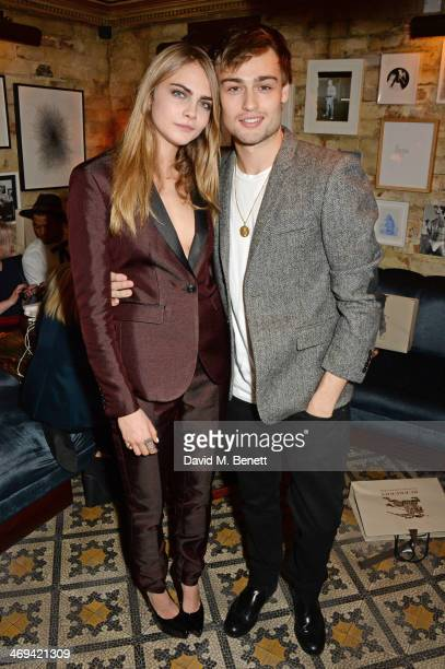 Cara Delevingne and Douglas Booth attend Harvey Weinstein's preBAFTA dinner in partnership with Burberry and Grey Goose at Little House Mayfair on...