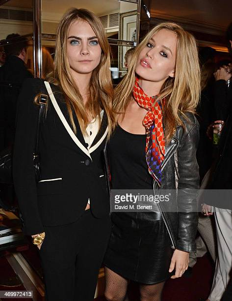 Cara Delevingne and Georgia May Jagger attend the launch of LOVE special editions at George on February 17 2014 in London England