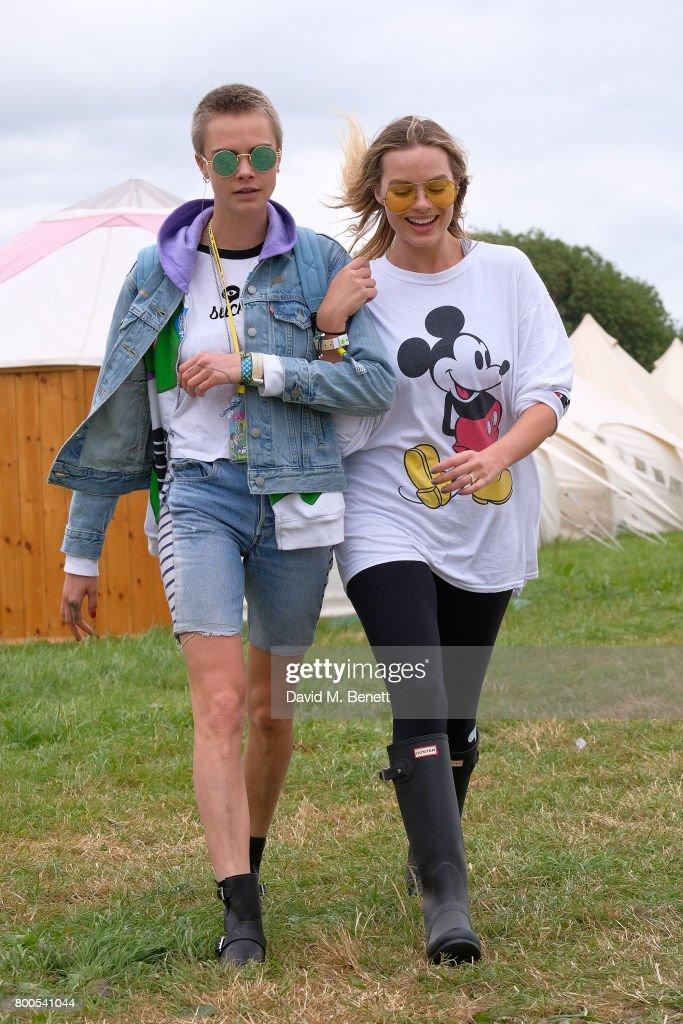 Celebrity sightings at Glastonbury 2017 : News Photo